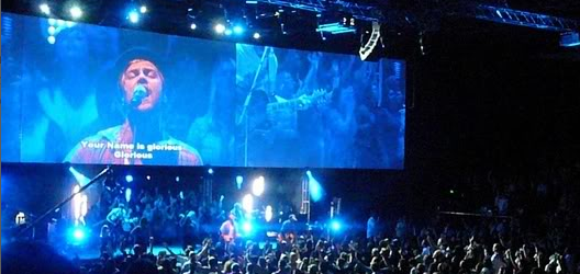 Hillsong United - Triple Wide Video Wall and Multi-Screen IMAG