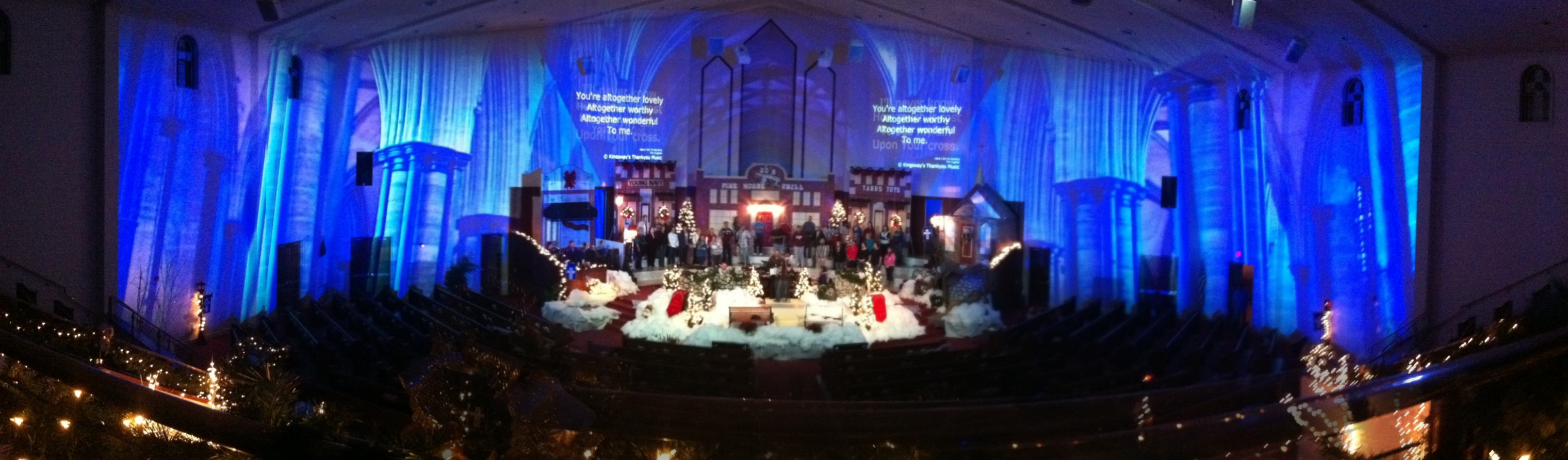 Environmental Projection in church