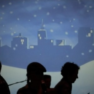 College Worship Service uses Projection to Create Environment.