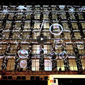Saks Fifth Avenue's Snowflake and Bubble Projection Mapping