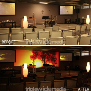Environmental Projection Before & After Pictures