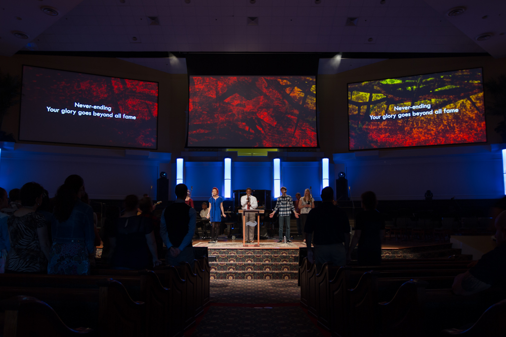 Details On Church Triple Wide Video Screen Setup