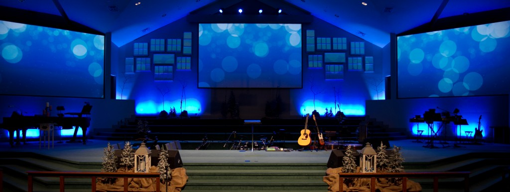 Christmas Multi Screen Stage Design
