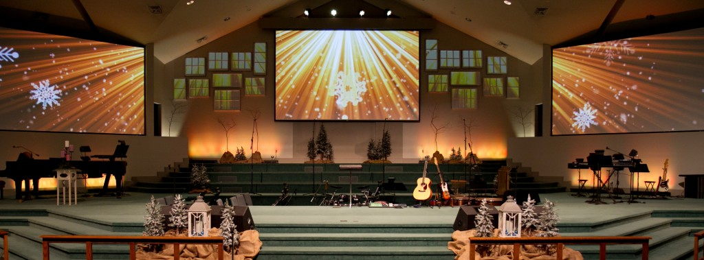 Christmas Multi-screen Stage Design
