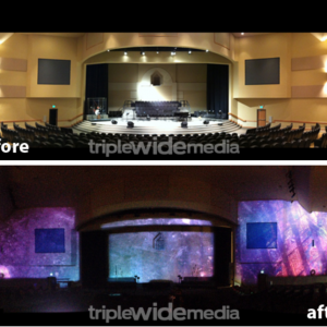 Christmas Environmental Projection Before & Afters