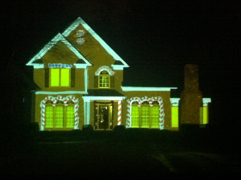 Light projection on house