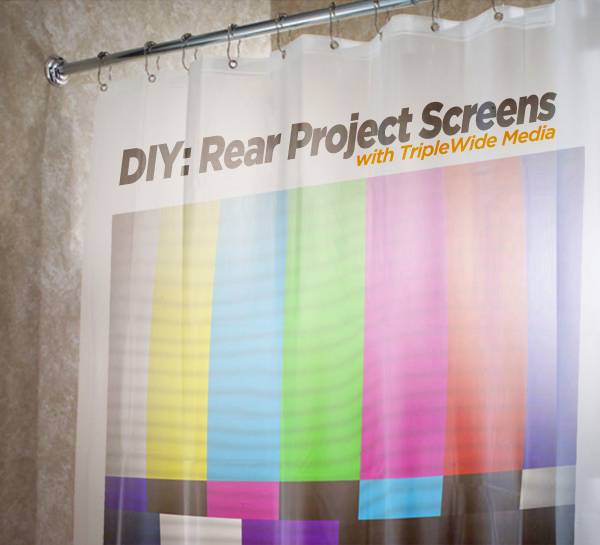 How To Make Your Own Video Screen From A Shower Curtain
