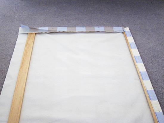 Wrapping Fabric Around A Wooden Frame Example