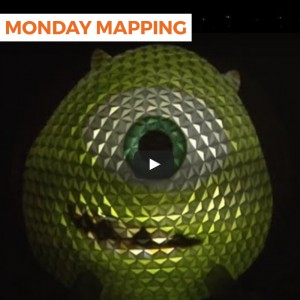 Disney Projection Mapping On Spaceship Earth (#44)