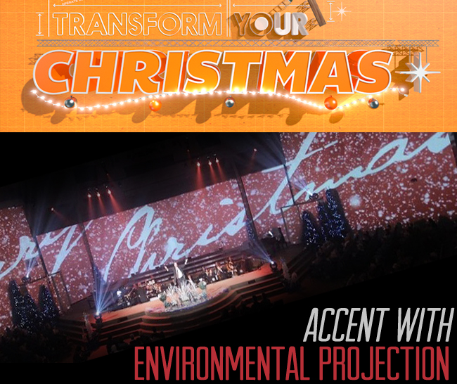 Environmental Projection as an Accent Title