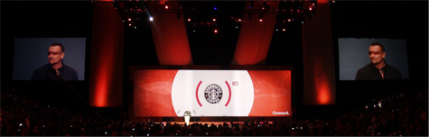 Starbucks Event with Bono and Edge Blended Triple Wide Screen