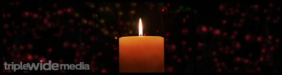 transform christmas-isolated candle