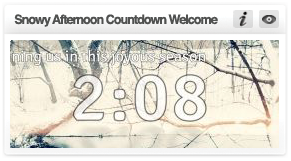 transform christmas-snowy afternoon countdown welcome