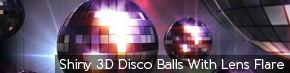 9058featured Shiny 3D Disco Balls With Lens Flare | TripleWide Media