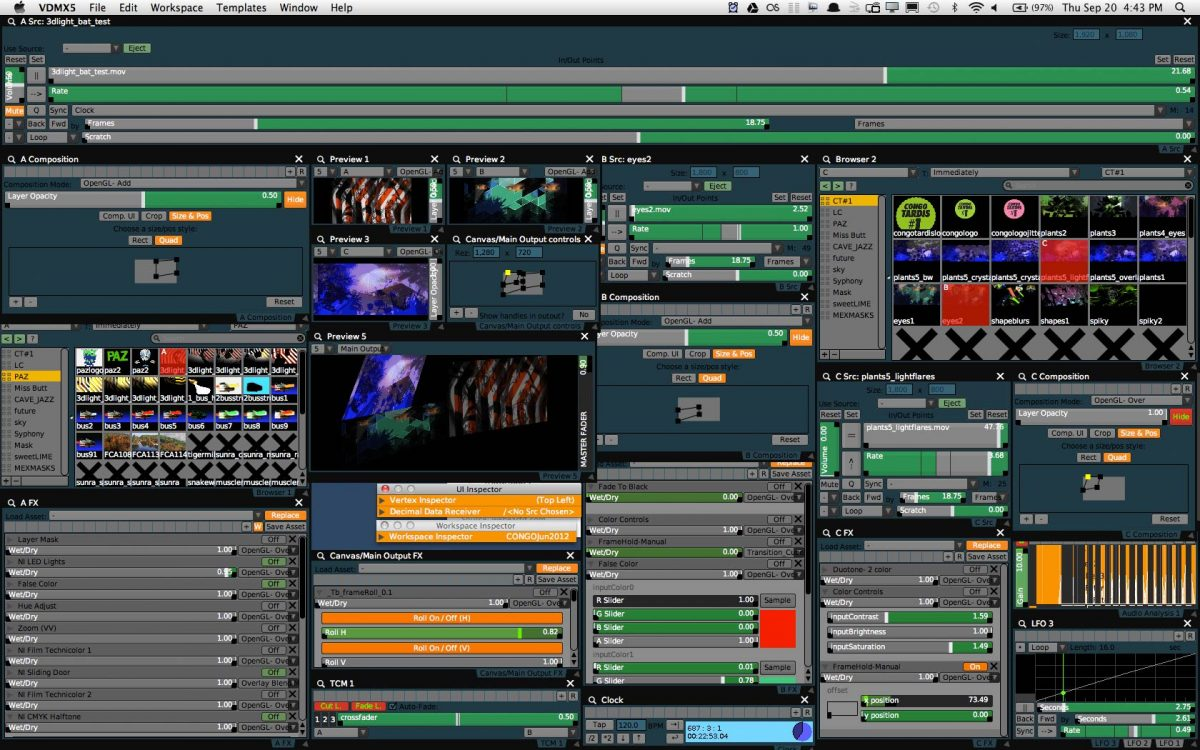 Top 6 VJ Sofware VDMX 5 screenshot