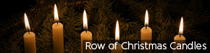 Row of Christmas Candles | TripleWide Media