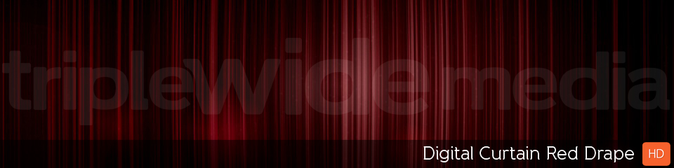 Digital Curtain Red Drape | TripleWide Media