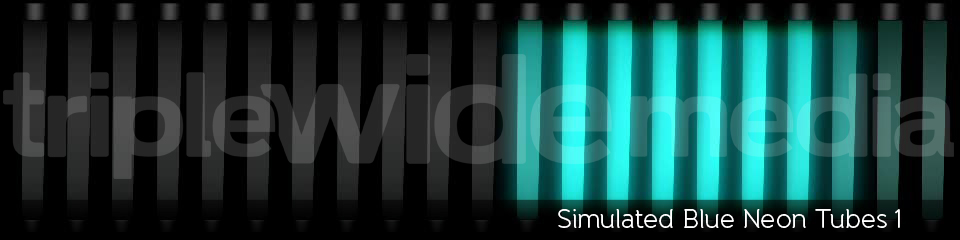 Simulated Blue Neon Tubes 1 | TripleWide Media