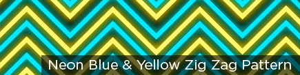 Neon Blue & Yellow Zig Zag Pattern by VJ Loops