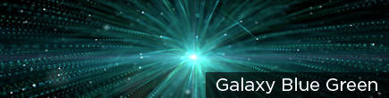 Galaxy Blue Green by LifeScribe Media