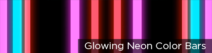 Glowing Neon Color Bars by VJ Loops