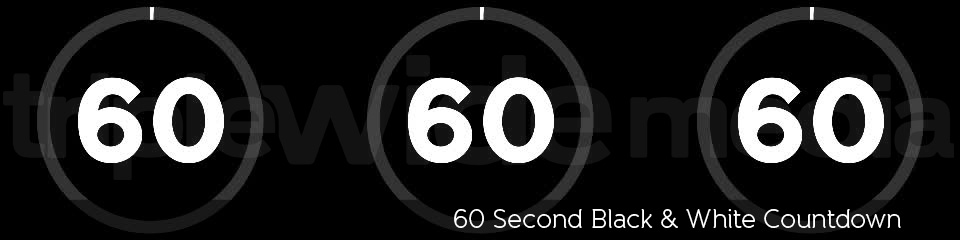 60 Second Black & White Countdown | TripleWide Media