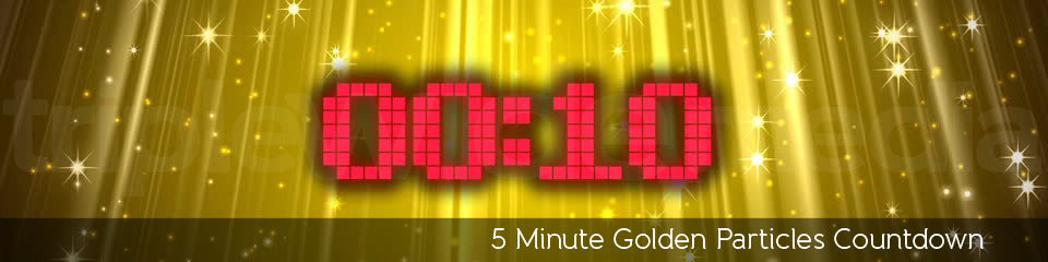 5 Minute Golden Particles Countdown | TripleWide Media