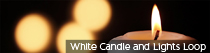 White Candle and Lights Loop | TripleWide Media