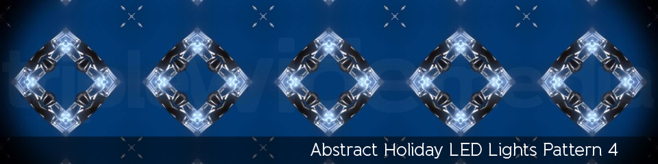 Abstract Holiday LED Lights Pattern 4 | TripleWide Media