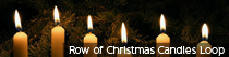 Row of Christmas Candles Loop | TripleWide Media