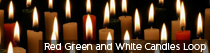 Red Green and White Candles Loop | TripleWide Media