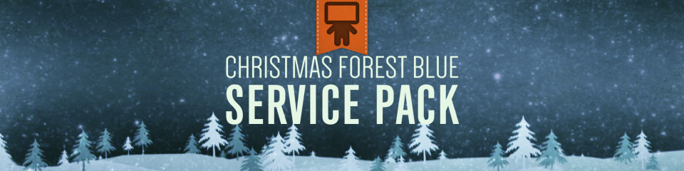 Christmas Forest Blue Service Pack | TripleWide Media