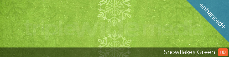 Snowflakes Green | TripleWide Media