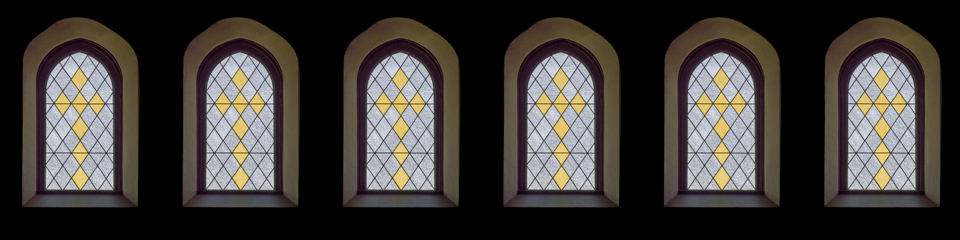 Stained Glass Cross Window | TripleWide Media