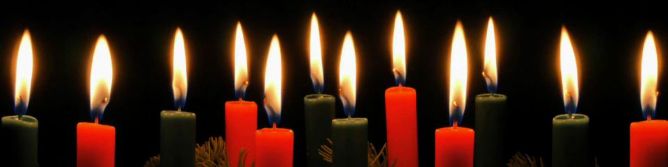 Row of Christmas Candles 2 loop | TripleWide Media