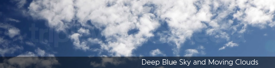 Deep Blue Sky and Moving Clouds | TripleWide Media