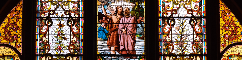 Church Window - Baptism of Jesus | TripleWide Media
