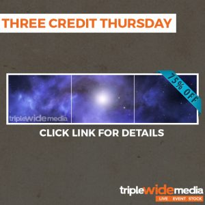 Final Three Credit Thursday of the Summer!
