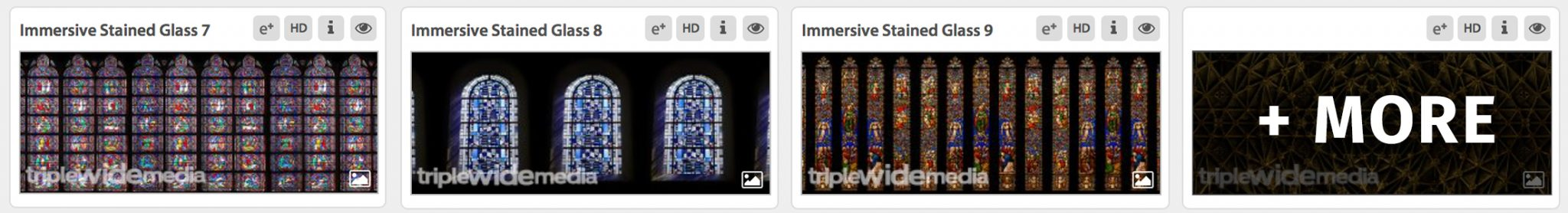 Immersive Stained Glass Imagery Set from Luke Mcelroy