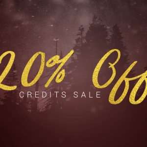 20% OFF All Credits! A Cyber Weekend Sale!